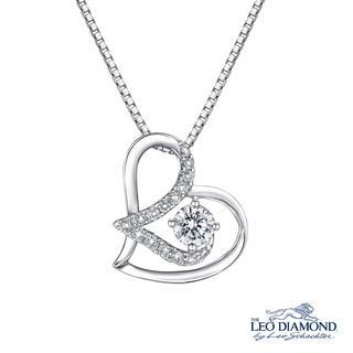 Leo Diamond - Affectionate Collection - 18K White Gold Heart-Shaped 'Love' Initial L Diamond Pendant Necklace (16')