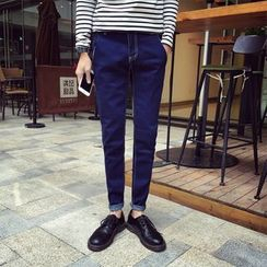 Mitouomo - Fleece Lined Slim-Fit Jeans