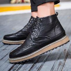 Komm - Brogue Short Boots