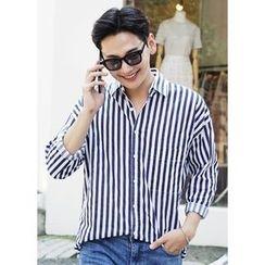 JOGUNSHOP - Long-Sleeve Striped Shirt