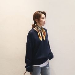 NANING9 - Crewneck Oversized Sweater