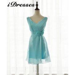idresses - Sleeveless V-neck Bridesmaid Dress
