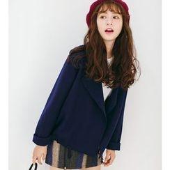 AiAi Bear - Plain Woolen Coat