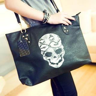 Love Bags - Skull-Print Tote