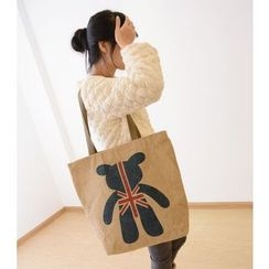 Bags 'n Sacks - Union Jack Bear Print Shopper Bag