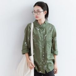 Forest Girl - Printed Long-Sleeve Shirt