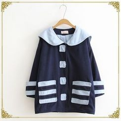 TOJI - Striped Button Coat