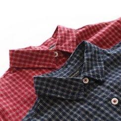 Bonbon - Plaid Long-Sleeve Shirt