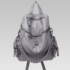 Annmuu - Faux-Leather Studded Backpack