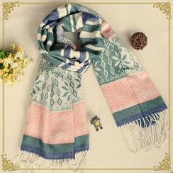 布衣天使 - 流蘇格子圍巾