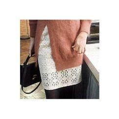 CHERRYKOKO - Lace Mini Pencil Skirt