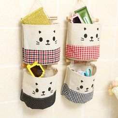 Coco Store - Cat Print Wall Hanging Pocket