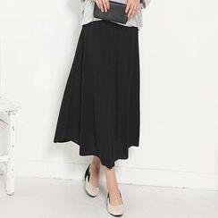 Stylementor - Banded-Waist Long Skirt
