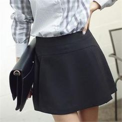 Styleberry - Pleated-Front Skort