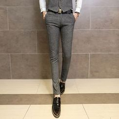 Maluda - Plain Slim-Fit Pants