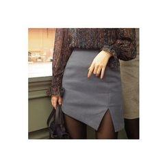 CHERRYKOKO - Asymmetric-Hem Mini Skirt