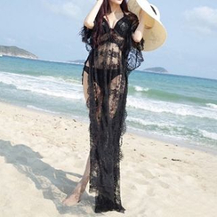 Sunset Hours - Dip Back Lace Cover-up