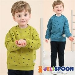 JELISPOON - Kids Set: Star Pattern Sweatshirt + Sweatpants