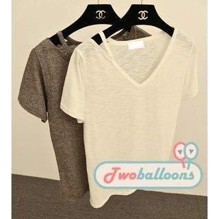 JVL - Cutout-Neck T-Shirt