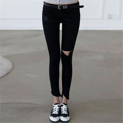CHICFOX - Cutout Skinny Pants