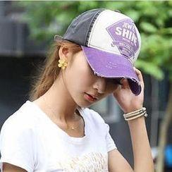 貴倫美 - 做舊字款棒球帽