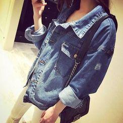 lilygirl - Distressed Denim Jacket