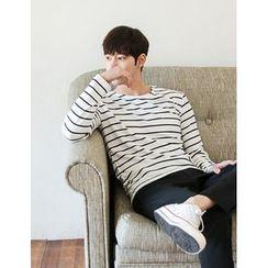 STYLEMAN - Round-Neck Striped T-Shirt