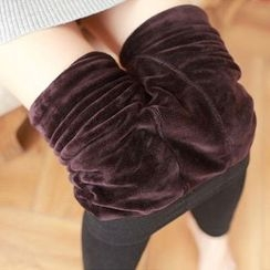 Cappuccino - Fleece-lined Leggings
