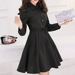 Q.C.T - Long-Sleeve Knit Dress
