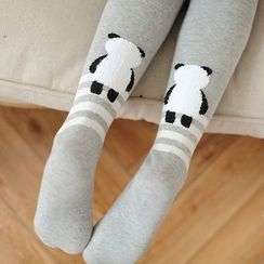 Cappuccino - Panda Print Tights