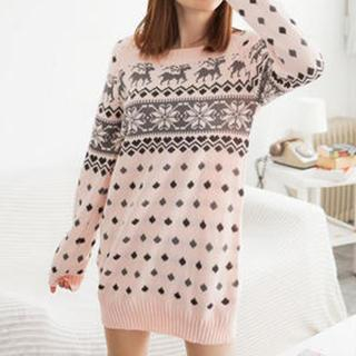 Tokyo Fashion - Nordic-Pattern Knit Tunic