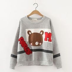 Angel Love - Bear Applique Sweatshirt