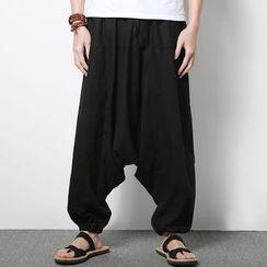 百高 - 純色哈倫褲