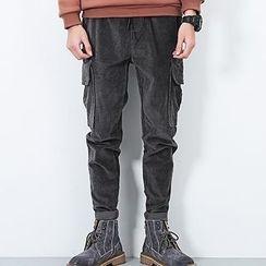 LIBIN - Corduroy Cargo Pants
