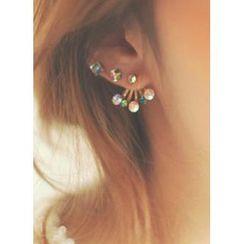 kitsch island - 水晶石耳钉