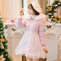 Candy Rain - A-Line Padded Long Coat