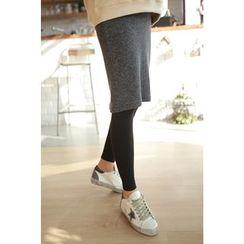 Momnuri - Maternity Inset Skirt Leggings