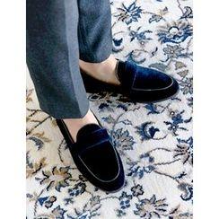 FROMBEGINNING - Velvet Loafers