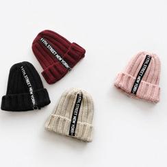 NIPONJJUYA - Lettering Rib-Knit Beanie