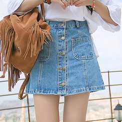 Fashion Street - Denim A-Line Skirt