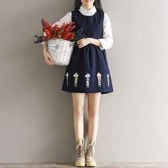 Fancy Show - 刺繡背心裙