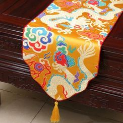 Sun East - Tasseled Traditional Chinese Patterned Table Mat