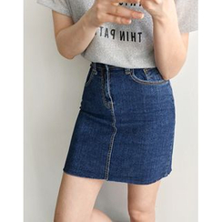 UPTOWNHOLIC - Denim Pencil Skirt