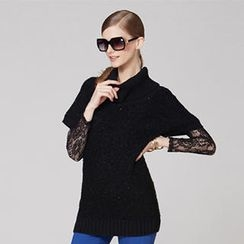 O.SA - Short-Sleeve Turtleneck Sweater