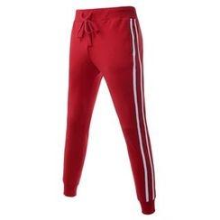 TheLees - Stripe-Trim Sweat Pants