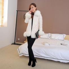 Shopin - Fleece-Lined Leggings / Inset Skirt Leggings