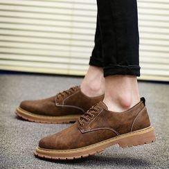 MARTUCCI - Faux-Leather Oxford Shoes