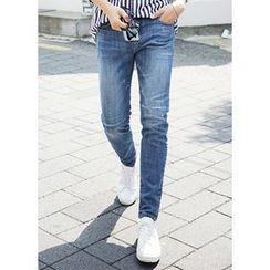 JOGUNSHOP - Straight-Cut Distressed Jeans
