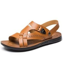 Jonas - Faux Leather Sandals