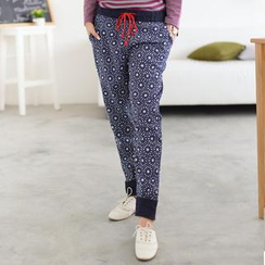 59 Seconds - Drawstring Flower Print Pants